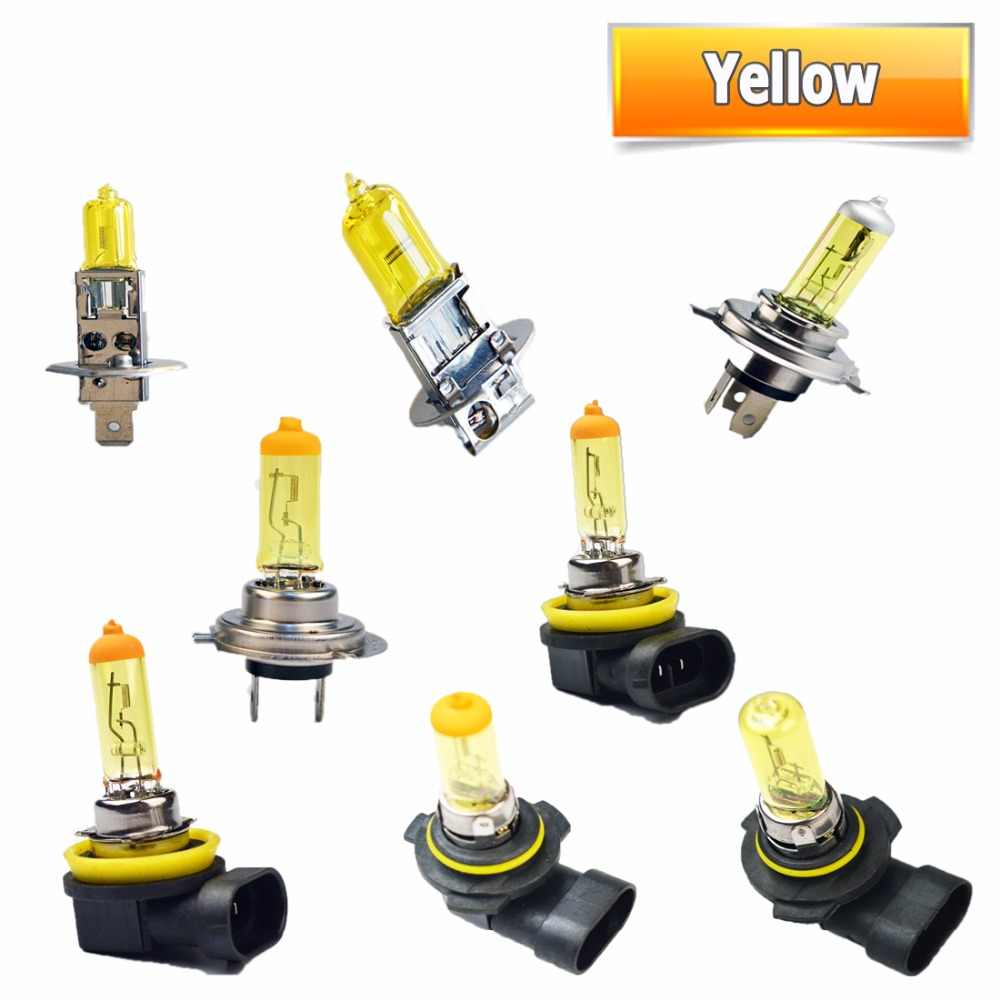 flytop 1 PCS Yellow H1 H3 H4 H7 H8 H11 9005 9006 Halogen Bulb 12V 55W 3000K Quartz Glass Xenon Car HeadLight Auto Lamp