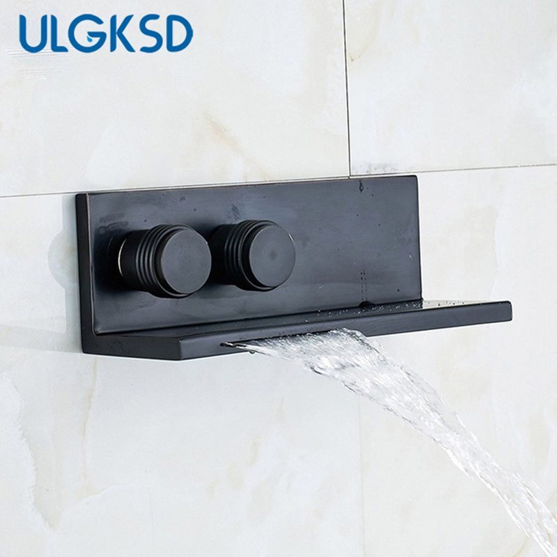 Ulgksd Bathroom Bathtub Faucet Waterfall Tub Faucet New Style Black