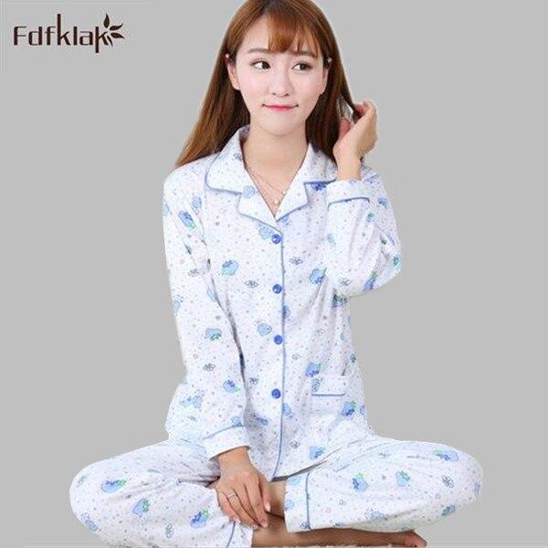 4b1e7355b2 New cotton womens pajamas 2017 floral print pijama autumn winter pyjamas  women long sleeve ladies sleepwear tracksuit A469