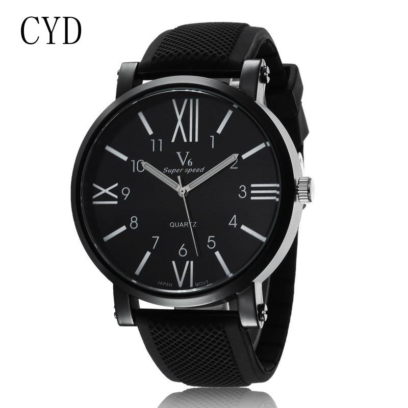 Men Quartz Watch Fashion V6 Watches Men Luxury Brand Analog Sports Military Watch Leather Men s