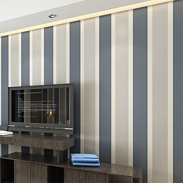 Weiß Breiten Streifen Tapete Einfachen Kreuz Vertikale Gestreiften Tapeten  Dekor Für Wohnzimmer Hintergrund Wand Grau Kaffee Pictures Gallery