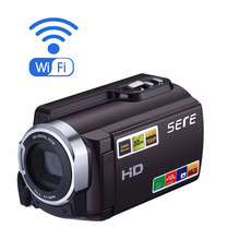 FHD 1080P Camcorders WIFI Connection 60FPS Night Vision External Battery 20MP 16X Digital Zoom 3 Inch Touch Screen Camera