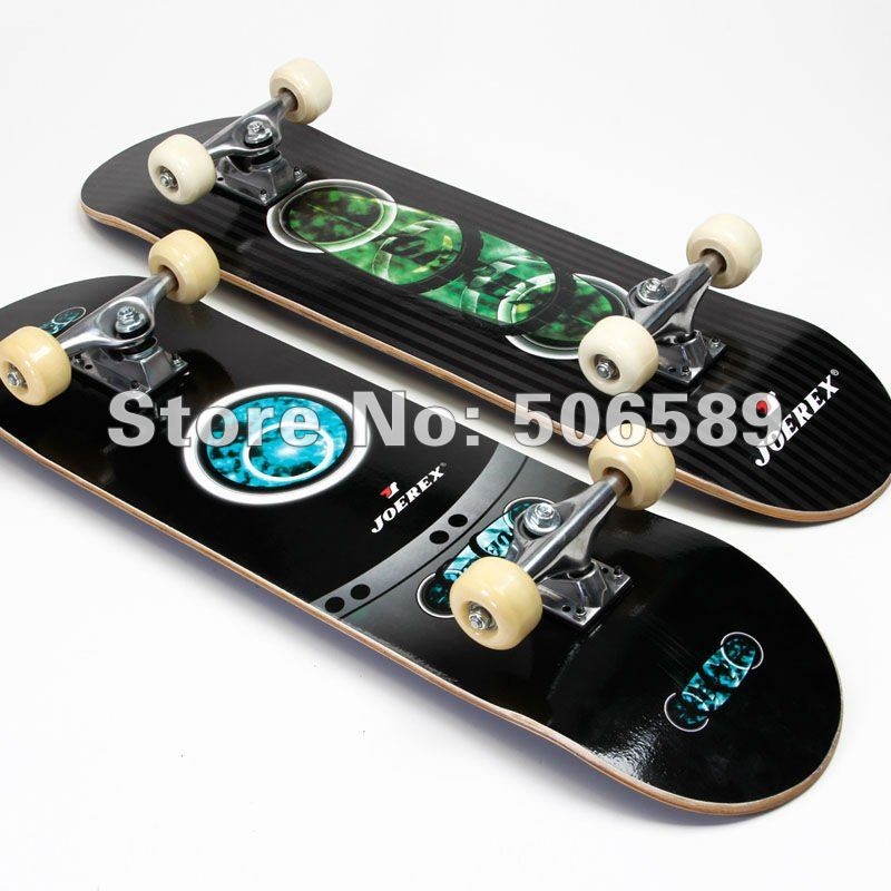 Free Shipping High Quality Skate Board Maple Wood Nice Layers PU Wheels Al Alloy 2 Colors