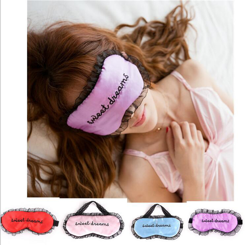 Soft Sleeping Nap Eye Mask Adjustable Lace EyeShade Nap Cover Blindfold Travel Rest Patch Blinder Satin Eye Shade Health care