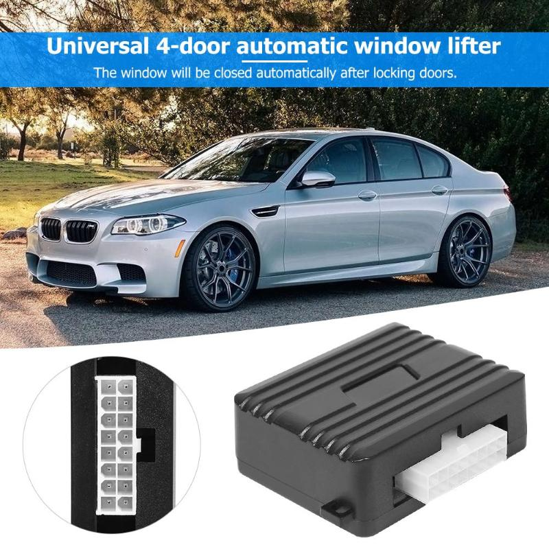 Universal Auto Car Window Closer Vehicle Door Glass Roll Up Closing Module Alarm System For 4 Doors Car Window Automatic Closer