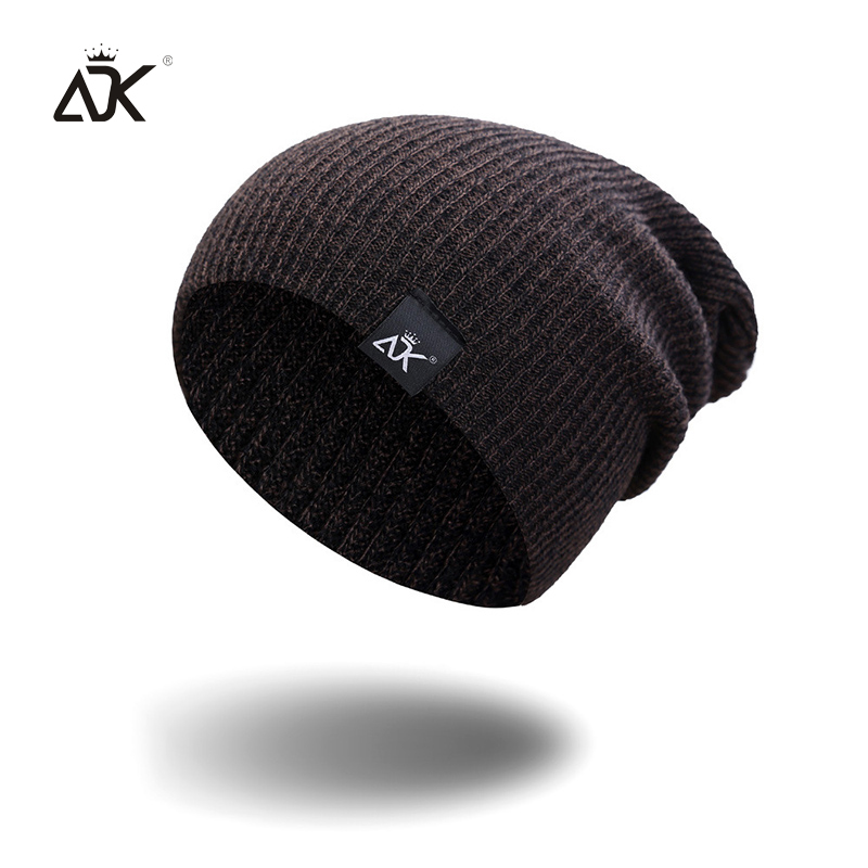 Mixed Color Baggy Beanies For Men Winter Cap Women's Outdoor Bonnet Skiing Hat Female Soft Acrylic Slouchy Knitted Hat For Boys 2
