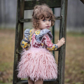 2016 Tutu Skirts Baby Girl Pettiskirts Kids Cute Princess Clothes Birthday Gift Toddler Ball Gown Party Pink Plush Fringed Skirt