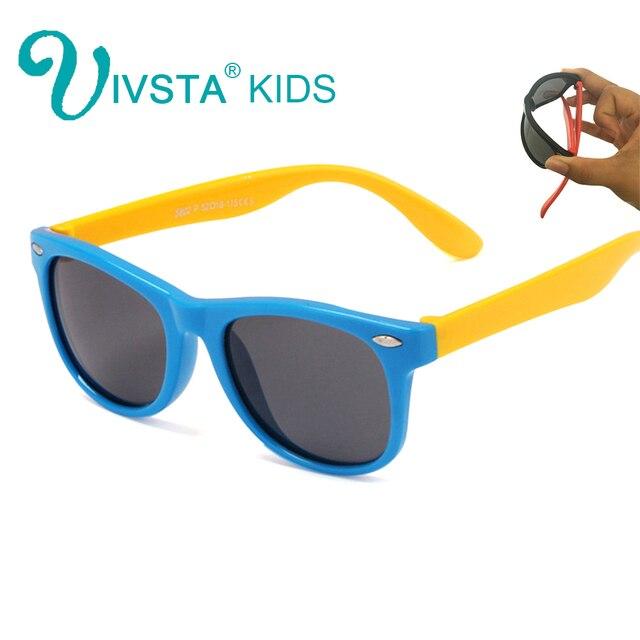 bajo precio e83ed 9b9a5 € 5.4 30% de DESCUENTO|IVSTA Polarized niños gafas de sol niños Gafas Sol  niños niñas escudo espejo TR90 bebé de silicona al por mayor Polaroid en ...