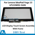 Original 13.3 inch For Lenovo IdeaPad Yoga 13 LP133WD2-SLB1 1600*900 Touch Panel Digitizer Screen LCD Display Assembly +Frame