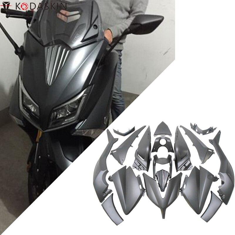 KODASKIN TMAX Kits de carénage complet pour Yamaha TMAX 530 2015-2016 ABS moulage par Injection corps travail Nardo gris titane foncé