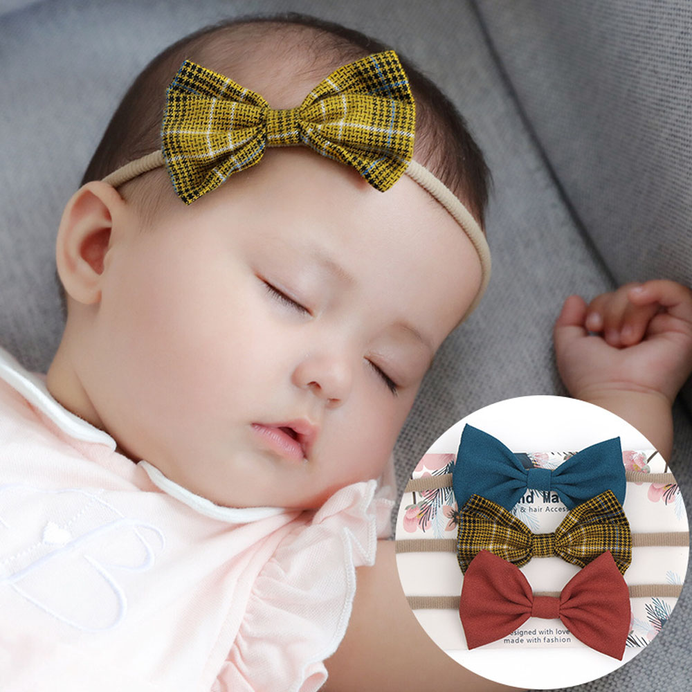 3pcs/set Baby Girls Headband Multi Colors Bow Knot Head Bandage Kids Toddlers Headwear Hair Band Infant Clothing Accessories
