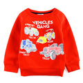 2017 Spring and Autumn full of new car Fleece children boy sweater  shirt age from 18m-6t