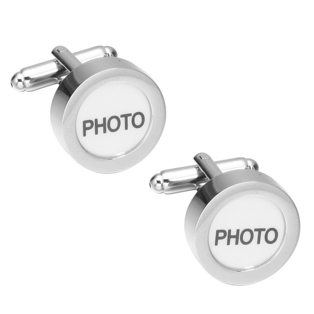 Memolissa Shirt Cufflink Mens Cuff Button Photo Display Wedding Links High Golden Abotoaduras Jewelry