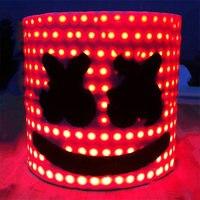 Bar MarshMello DJ Mask Tiesto LED Full Head Helmet Cosplay Party Props Supplies YH 17