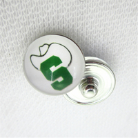 10pcs NCAA Stetson Hatters Snap Buttons 18mm Sports snap buttons Diy Snaps Jewelry Bracelet&bangles charms