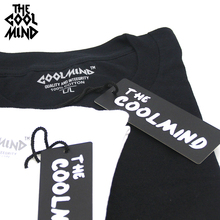THE COOLMIND 100% cotton casual short sleeve moon theme men T shirt o-neck  knitted comfortable fabric street style men t-shirt