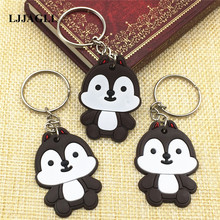 10pcs/lot PVC Lovely Squirrel Cartoon Key Chain Strap Trinket Ring Kids Toy Pendant Anime Animal Charms Holder ACT013