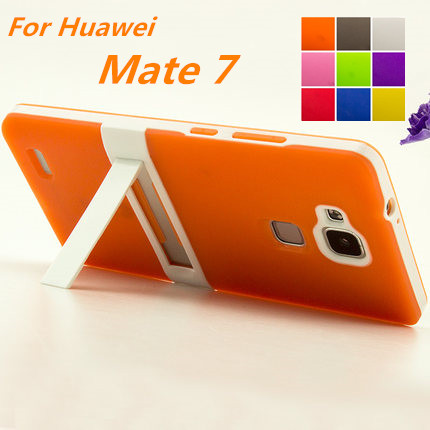 Ultra-Thin PC Frame TPU Soft Cover Silicon Case For Huawei Ascend Mate 7 Matte Feel Phone Cases For Huawei Mate 7