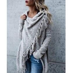 Женский свитер с кисточками, осенне-зимний свитер большого размера, Прямая поставка, 2019