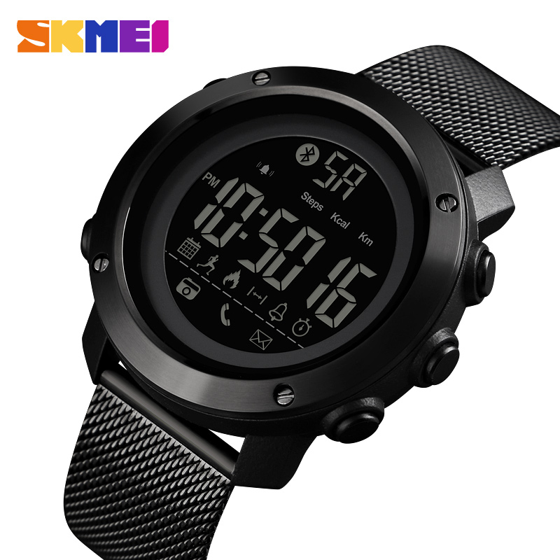Fashion Top Luxury Brand Smart Watch Oled Display Pedometer Calorie Compass Waterproof Digital Watch Skmei Sports Watches Elegant Appearance Lover's Watches