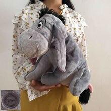Ücretsiz kargo 36cm 14 gri Eeyore eşek doldurulmuş hayvan sevimli yumuşak peluş oyuncak bebek doğum günü çocuk hediye koleksiyonu