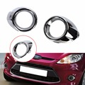 2pcs ABS Chrome Front Fog Light Lamp Ring Cover Trim For Ford Fiesta 2009-2012	 Sedan Trend Comfort //