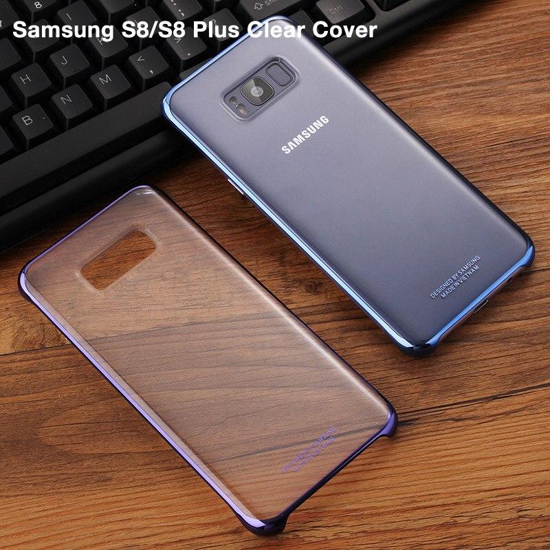 100% Couverture de Téléphone D'origine Pour Samsung Galaxy S8 + S8 Plus G9550 SM-G9 SM-G955 GALAXY S8 Transparent Téléphone Soft Shell 6 couleurs
