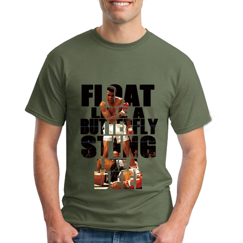 T shirt design jackson ms - Muhammad Ali T Shirt Float Like A Butterfly Sting Like A Bee Mens Short Sleeved