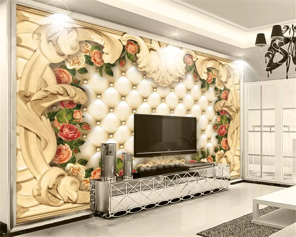 Beibehang Custom Photo Wall Mural 3d Wallpaper Luxury: Beibehang Custom 3d Wallpaper European Luxury Soft Bag Of