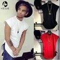 cotton 100% hip hop side zipper long t shirt fashion design longline t-shirt men tall tshirt free shipping top tees