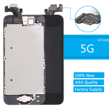 for Apple iPhone 5 LCD Display AAA Quality LCD Touch Screen Digitizer Full Assembly for iPhone 5 5G Screen Replacement Complete brand new 5 5 display parts for apple iphone 6s plus lcd screen replacement with tool kits lcd touch screen digitizer assembly