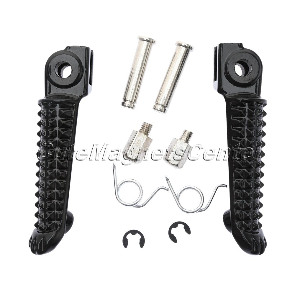 Black Motorcycle Front Footrest Aluminum Foot Pegs Rest
