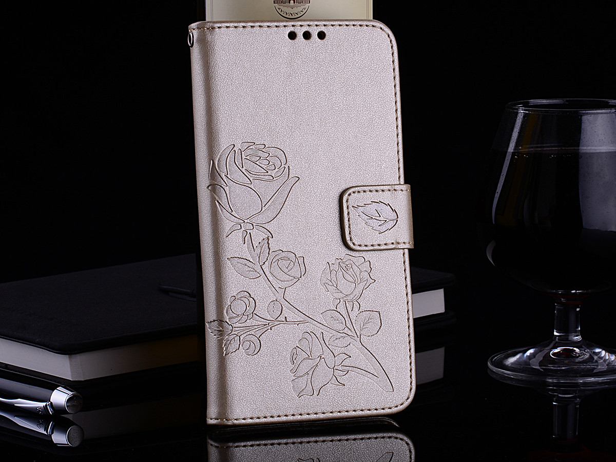 , Leather Phone Case For Samsung Galaxy A5 2016 version A5100 Wallet Rose Flower Stand Mobile Phone Cover For Samsung A510F Cases