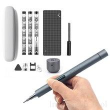 Wowstick 1f pro mini precisão chave de fenda elétrica sem fio recarregável bateria lítio chave de fenda com luz led 56 peças