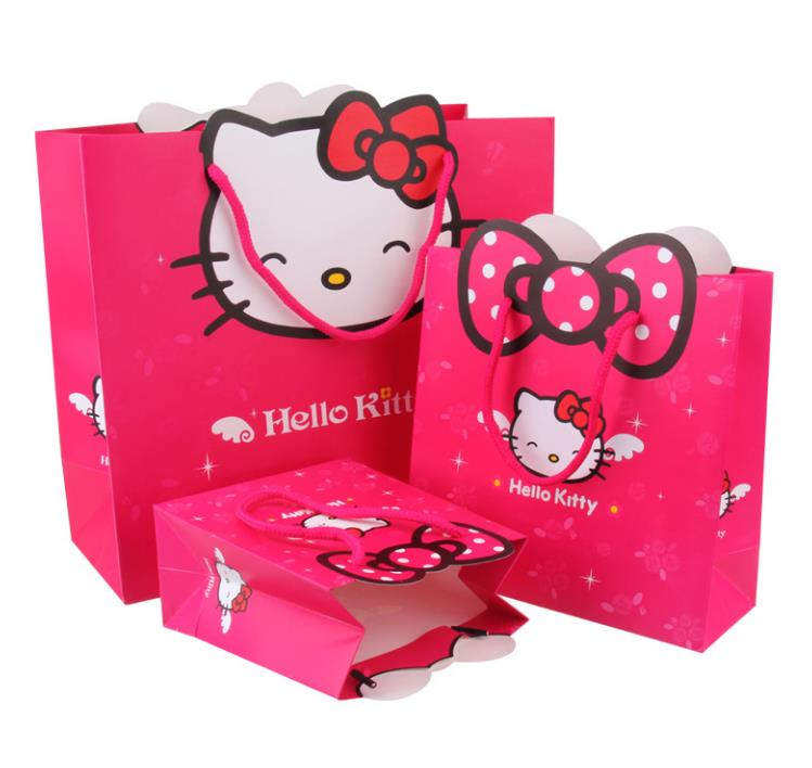 b8f210339d95 3 size Gift bag Hello Kitty cartoon packing Environmental safety paper bag  package for girls kid handbag present -in Shopping Bags from Luggage   Bags  on ...