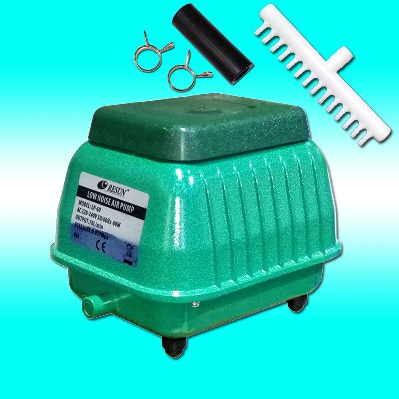 60W 70L/min RESUN LP 60 Low Noise Aquarium Air Pump for Koi