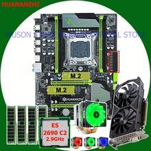 Buena HUANANZHI X79 Pro con doble M.2 ranura para la tarjeta de vídeo GTX1050Ti 4G CPU Xeon E5 2690 de 2,9 GHz con enfriador RAM 16G (4*4G)