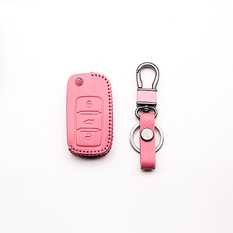 The latest fashion leather car key cover for Volkswagen VW polo b5 b6 golf 4 5 6 jetta m ...
