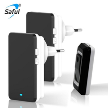 Saful Wireless Doorbell EU/US/AU/UK Plug Waterproof Doorbells