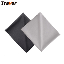 Travor 2Pcs 18*15cm Microfiber Cleansing Material for Digital camera Lens cleansing/LED Screens/Tablets/Smartphones 1 Black+1 Grey