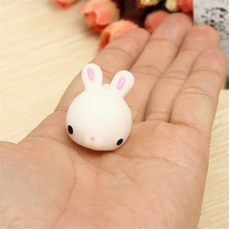 1 шт. Kawaii милый кролик сжимает Исцеление снятие стресса игрушка подарок декор медленно поднимающийся мобильный телефон талисманы ремни