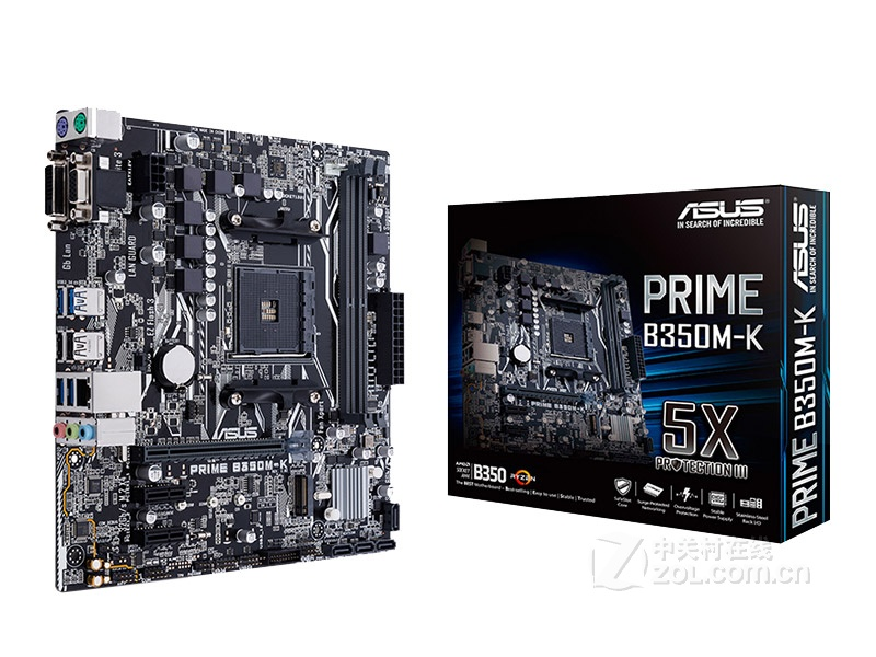 New ASUS PRIME B350M-K motherboard Socket AM4 DDR4 USB3.0 SATA3 DVI VGA 32GB <font><b>B350</b></font> desktop motherboard Free shipping image