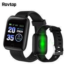 Rovtop D13 inteligentne zegarki inteligentna opaska na rękę zegarek mierzący uderzenia serca mężczyźni kobiety Sport zegarki inteligentna opaska Sport 116plus Smartwatch