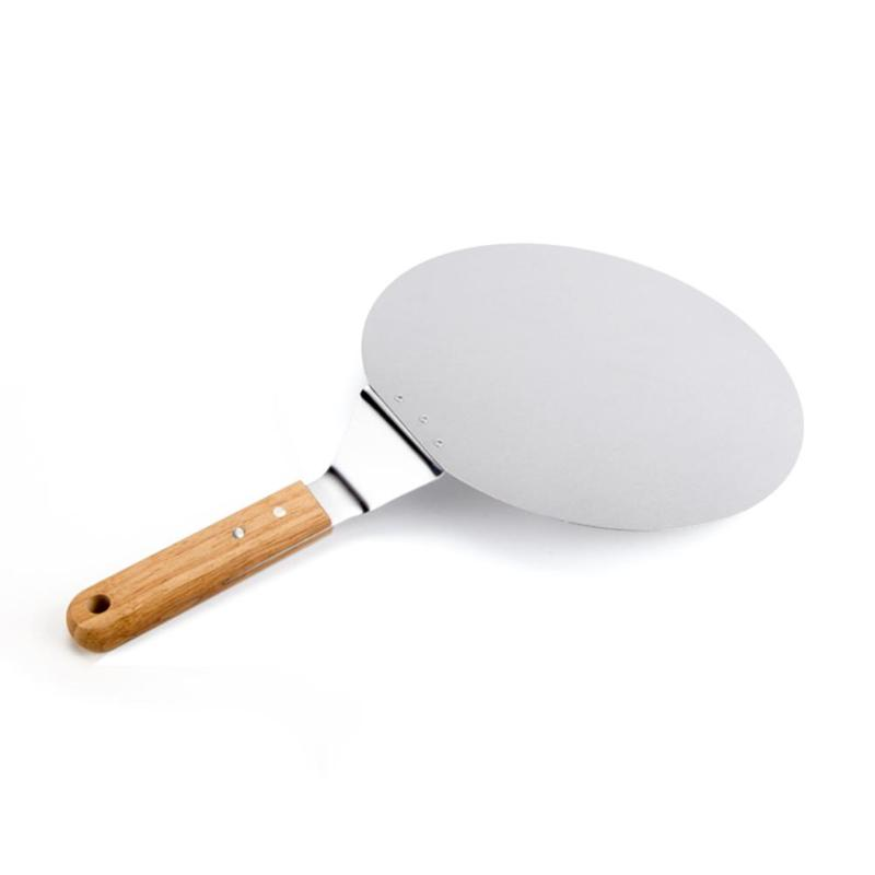 Pizza Stone Baking Pastry Tools 1 Piece Stainless Steel Anti-scalding Pizzas Spatula Oak Handle Cake Shovel Kitchen Accessories