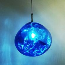 купить Modern Pendant Lights Glass Lava Ball Home Decor Pendant Light Restaurant Bar Cafe Hanging Lamp Loft Living Room Light Fixtures дешево