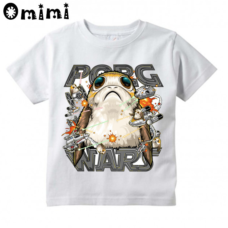 Мальчики и девочки забавные карман закупочная организация Дизайн Топы Дети войны звезды футболка с рисунком Милая футболка