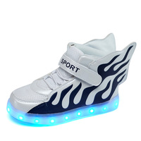 2016 New Spring Wings Boys Girls Children S Shoes Led Charge Emitting Light Luminous Colorful Shoes