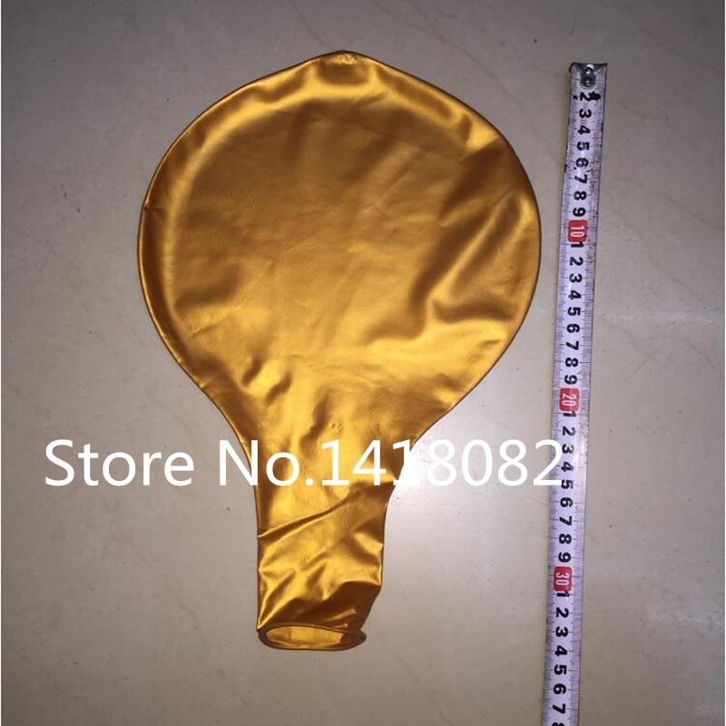 36inch 25g Okrugli veliki balon 5pcs / lot zlatno srebrni bijeli crni - Za blagdane i zabave - Foto 2
