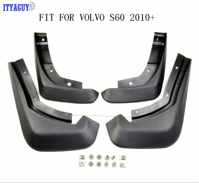 ITYAGUY Car Fender Mud Flaps Fit For VOLVO S60 Splash guards Mud Flap Mudguards Fender Mudflaps Accessories