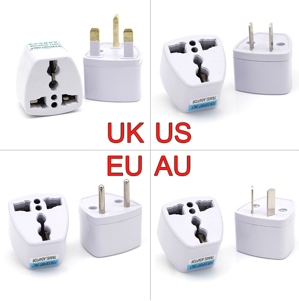 New Arrival 1 PC Universal UK US AU to EU AC Power Socket Plug Travel Electrical Charger Adapter Converter Japan China American (1)